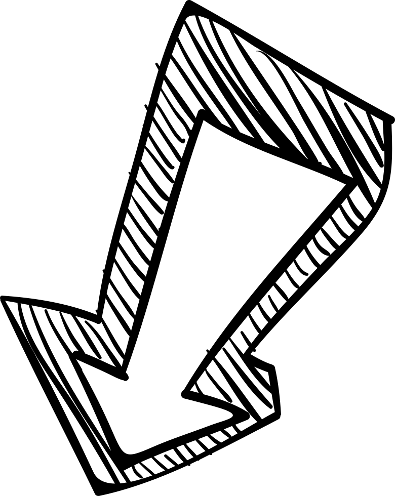 Arrow sketch png. Down svg icon free
