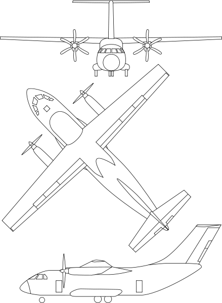 Sketch svg air craft. File il aircraft views