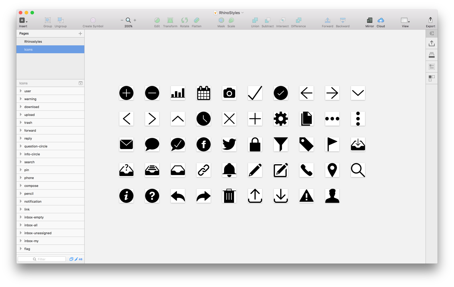 Sketch svg app. From to finish icons
