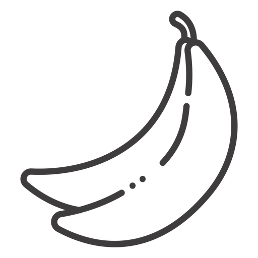 Banana svg vector. Fruit stroke icon transparent