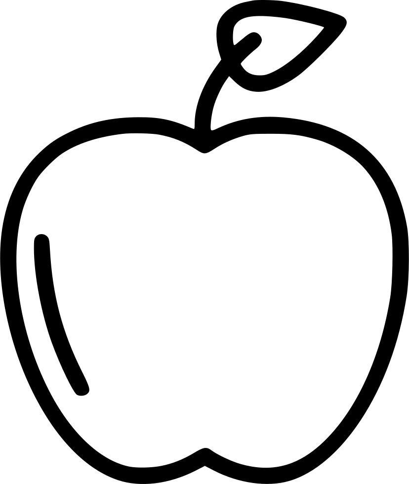 Sketch svg black white fruit. Apple healthy png icon