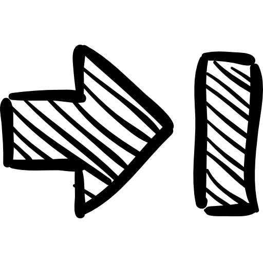 Sketch svg sketched. Multimedia button right arrow