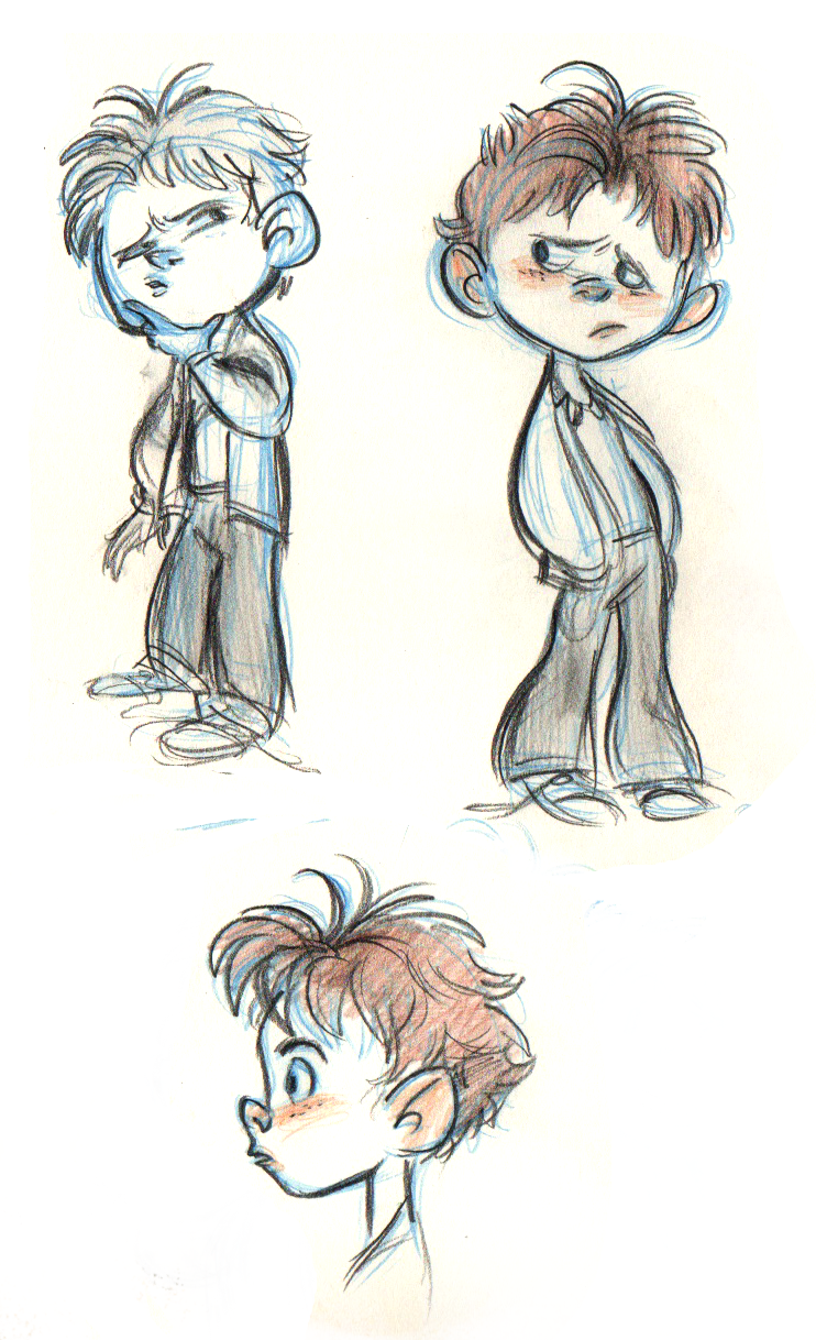 Sketching drawing boy. Great little sketches by