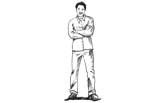 Sketching drawing person. Step by people tutorials