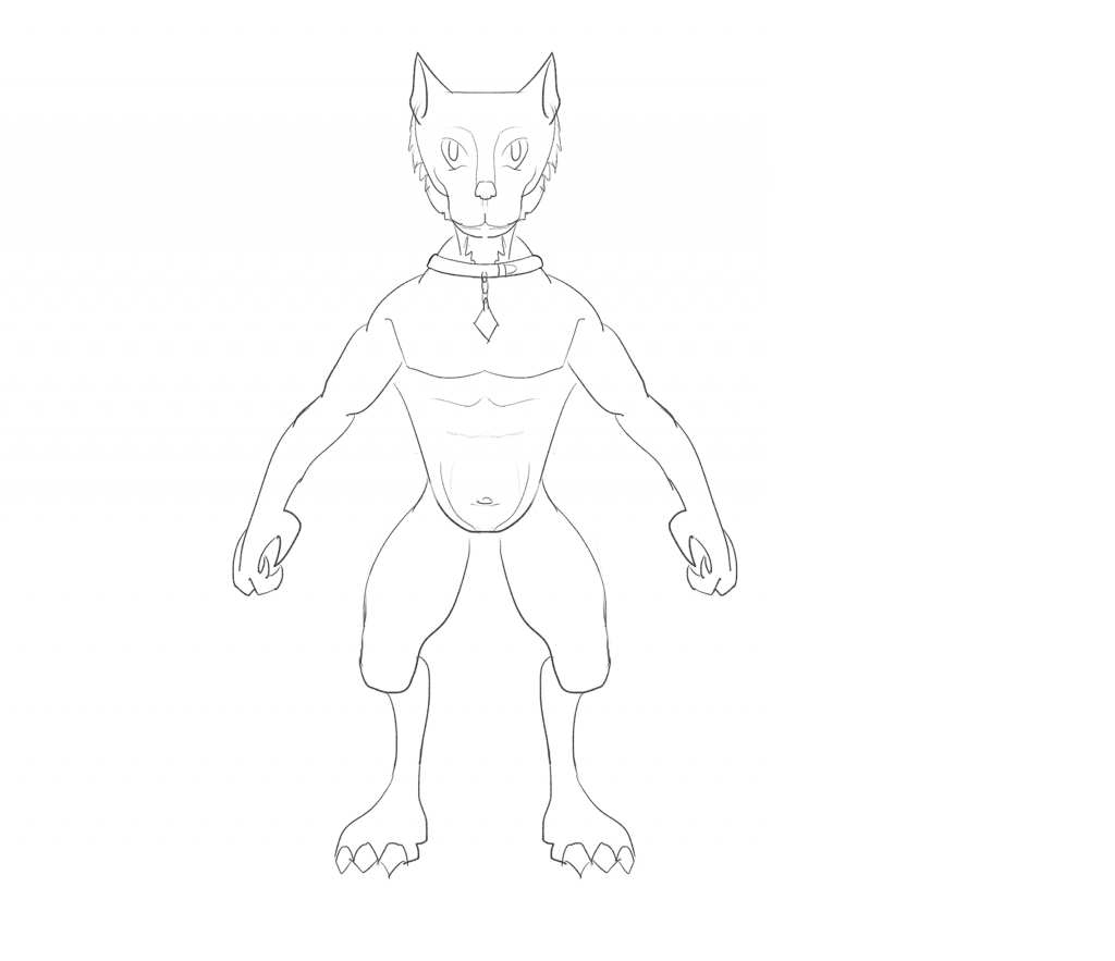 Drawing def rough sketch. Cat fu a character