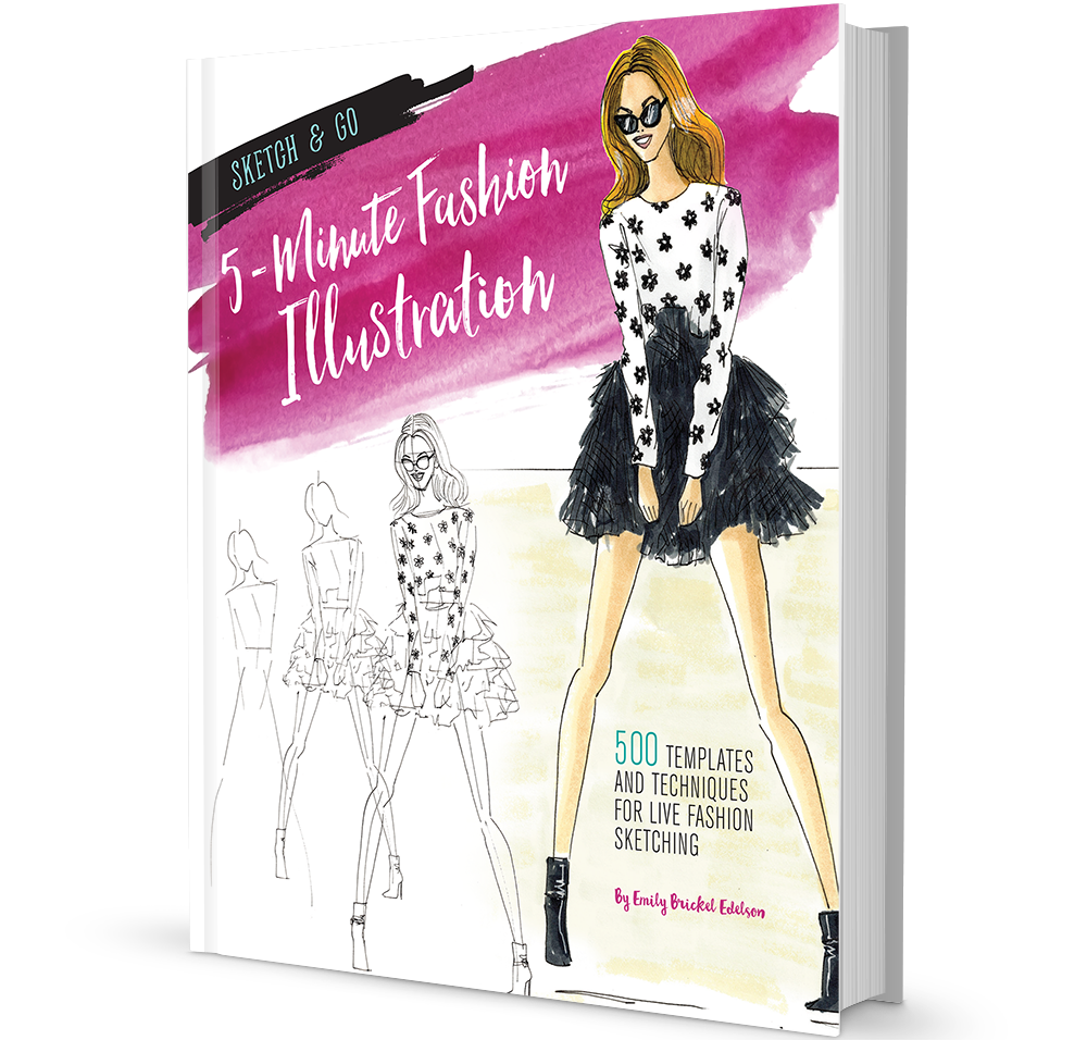 Sketchpad drawing fashion design. Sketch go book emily