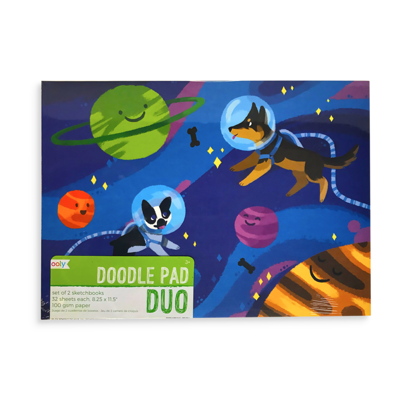 Sketchpad drawing inspiration. Doodle pad duo sketchbooks
