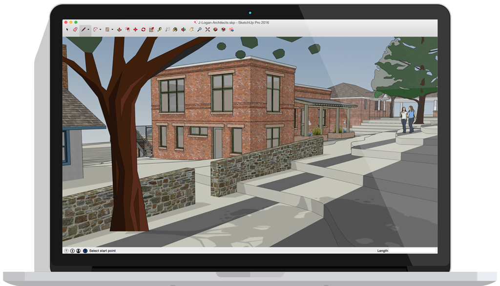 Sketchup drawing. Pro software create d