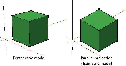 Sketchup drawing perspective. A beginning guide for