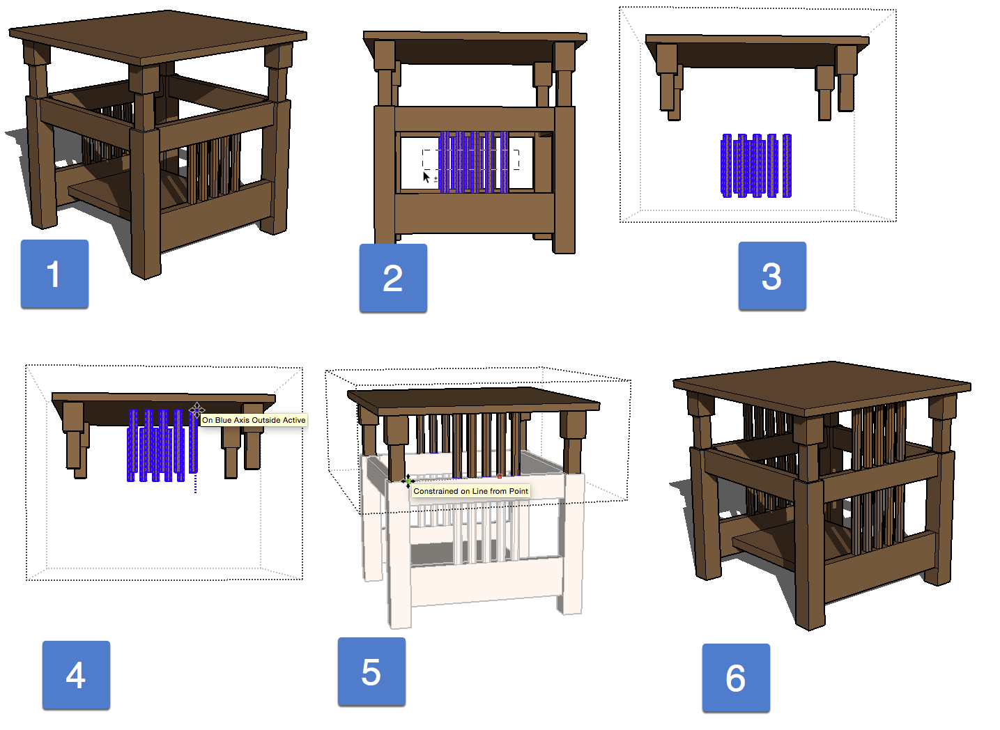 Sketchup drawing table. Best practices and applied