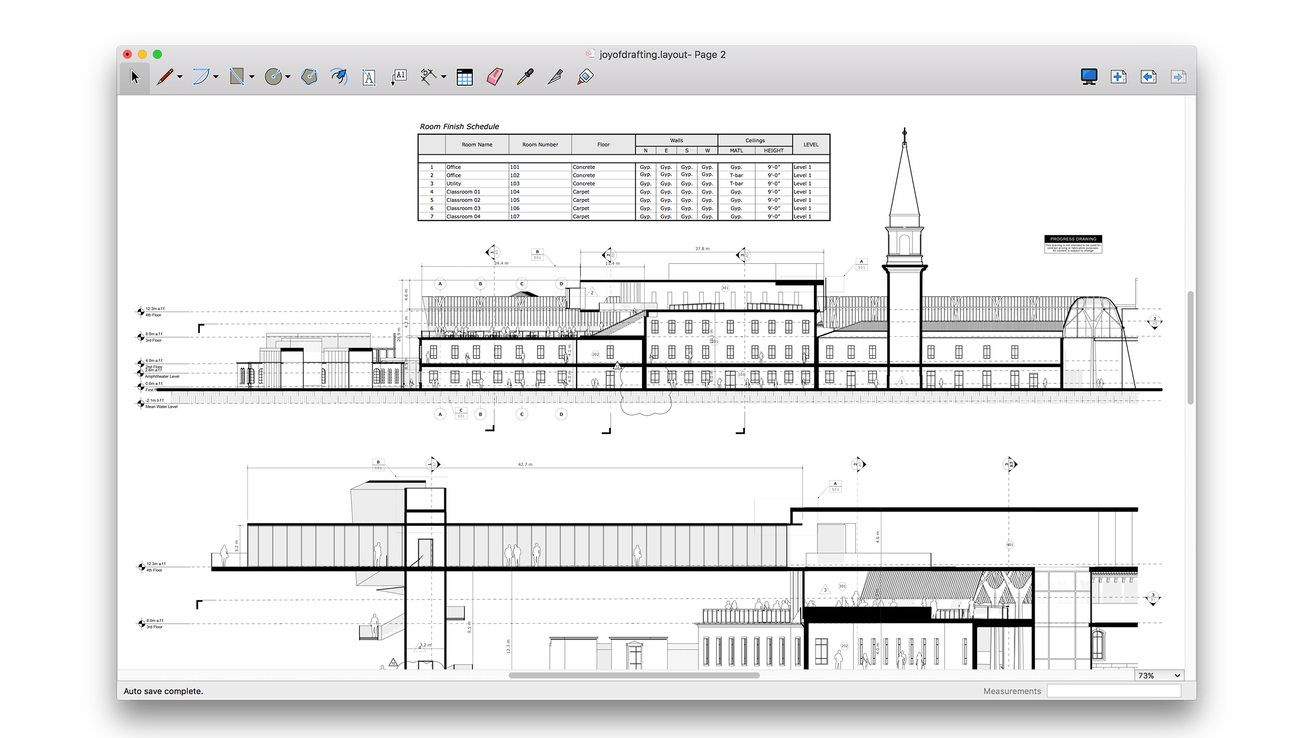Sketchup drawing technical. Tablas layout pro scar