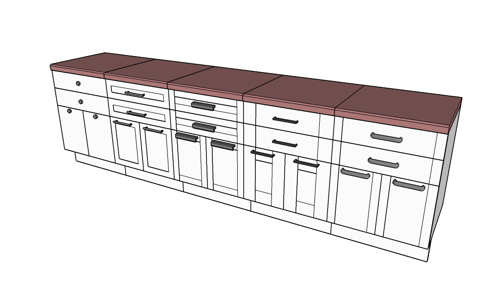 Sketchup drawing video. Oob cabinets extension warehouse