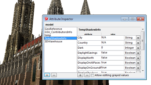 Sketchup drawing village. Attribute inspector extension warehouse