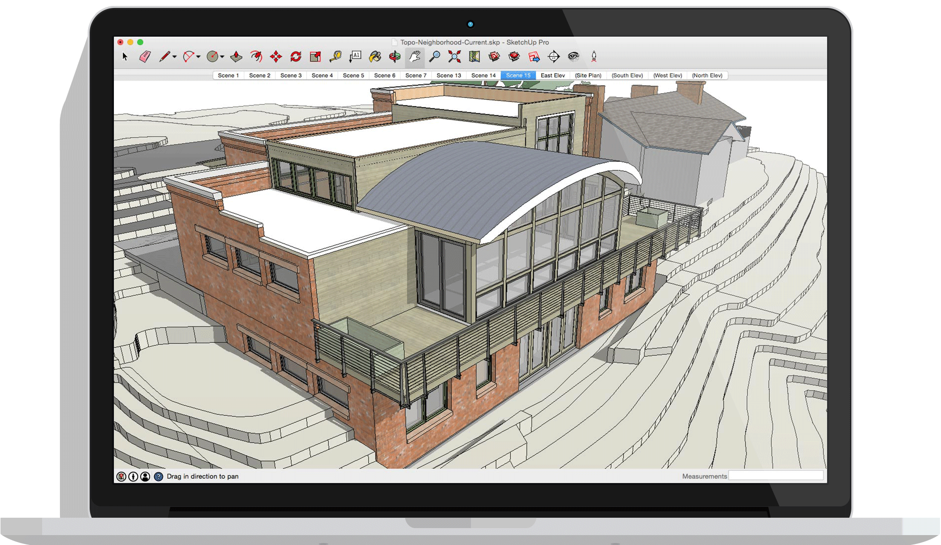 Sketchup drawing. Free architectural design software