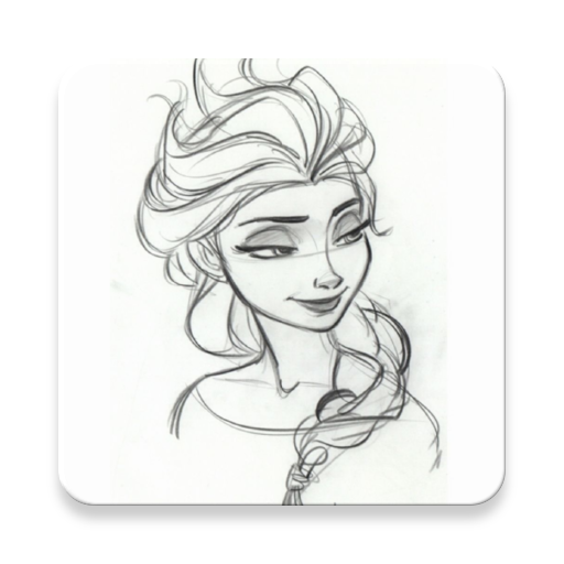 Sketchy drawing character disney face. App insights how to