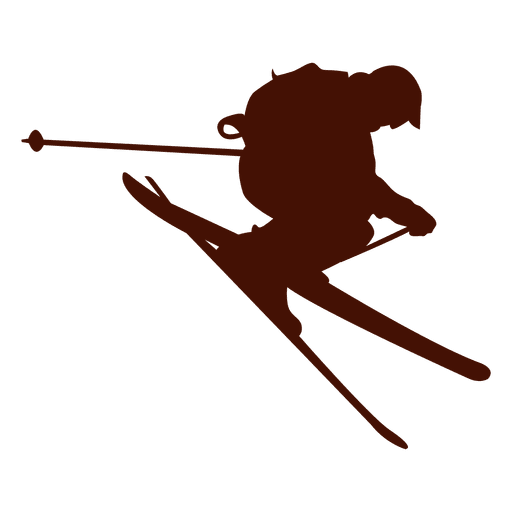 Ski clip downhill. Freestyle skiing transparent png