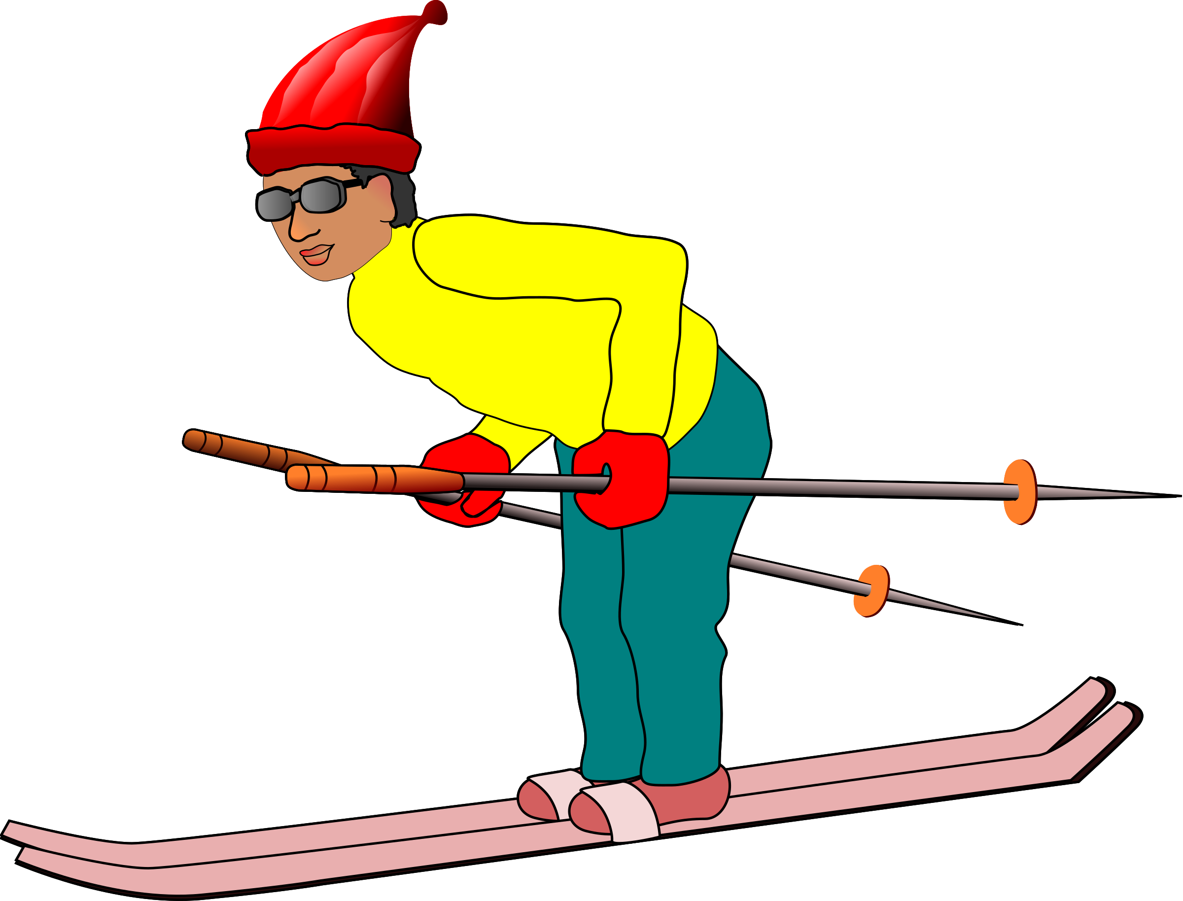 skier drawing guy