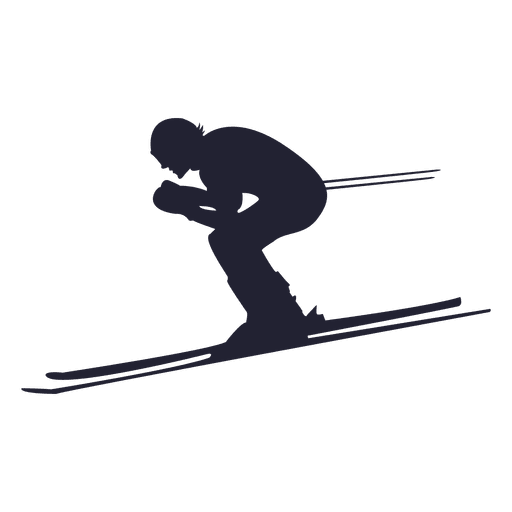 Skier drawing freestyle skiing. Downhill silhouette at getdrawings