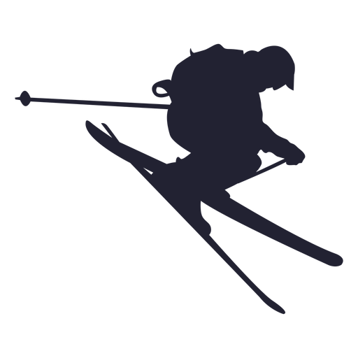 skiing jpg transparent. Skier vector png black and white library
