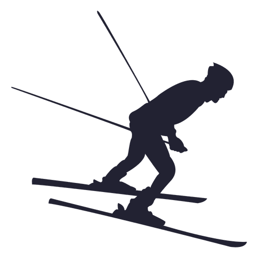 Skier vector. Skiing snow speed transparent