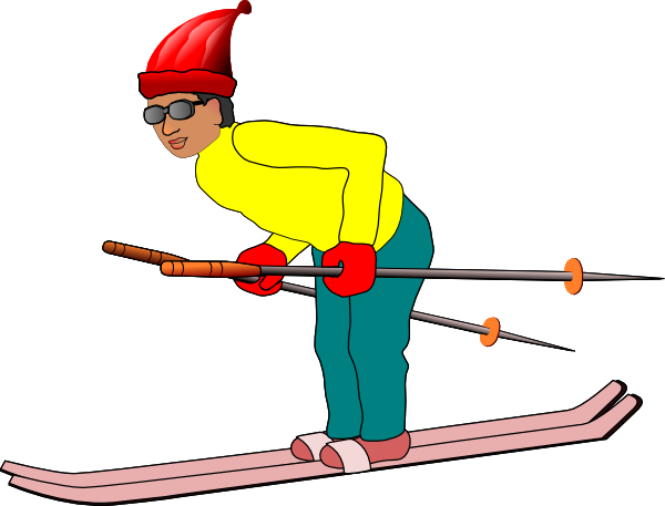 skier drawing animated