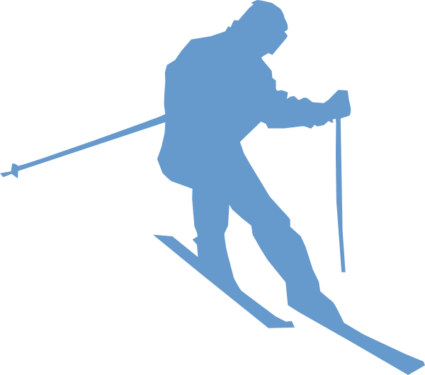 skis vector draw