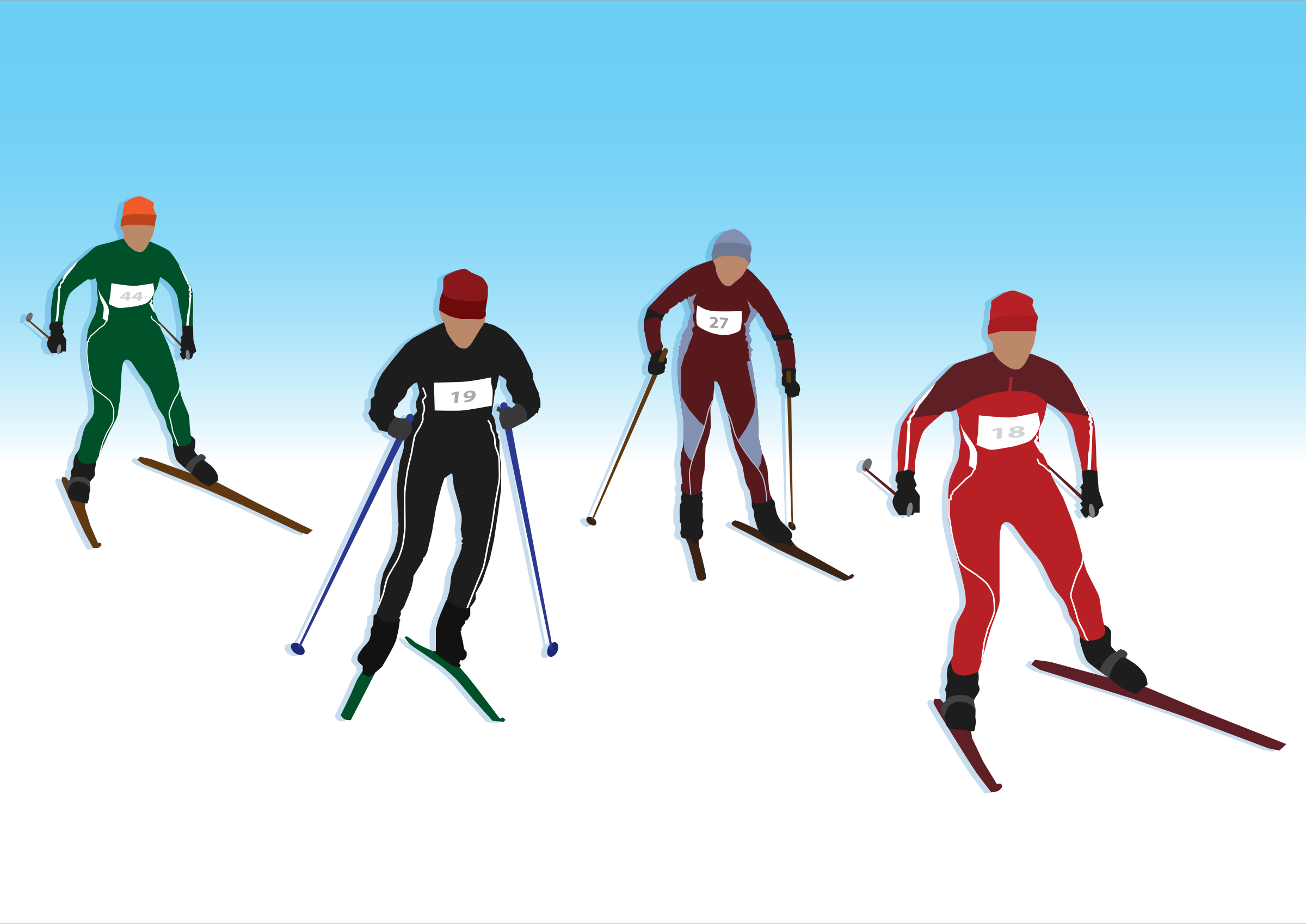 Skis clipart cross country skis. Skiing crosscountry