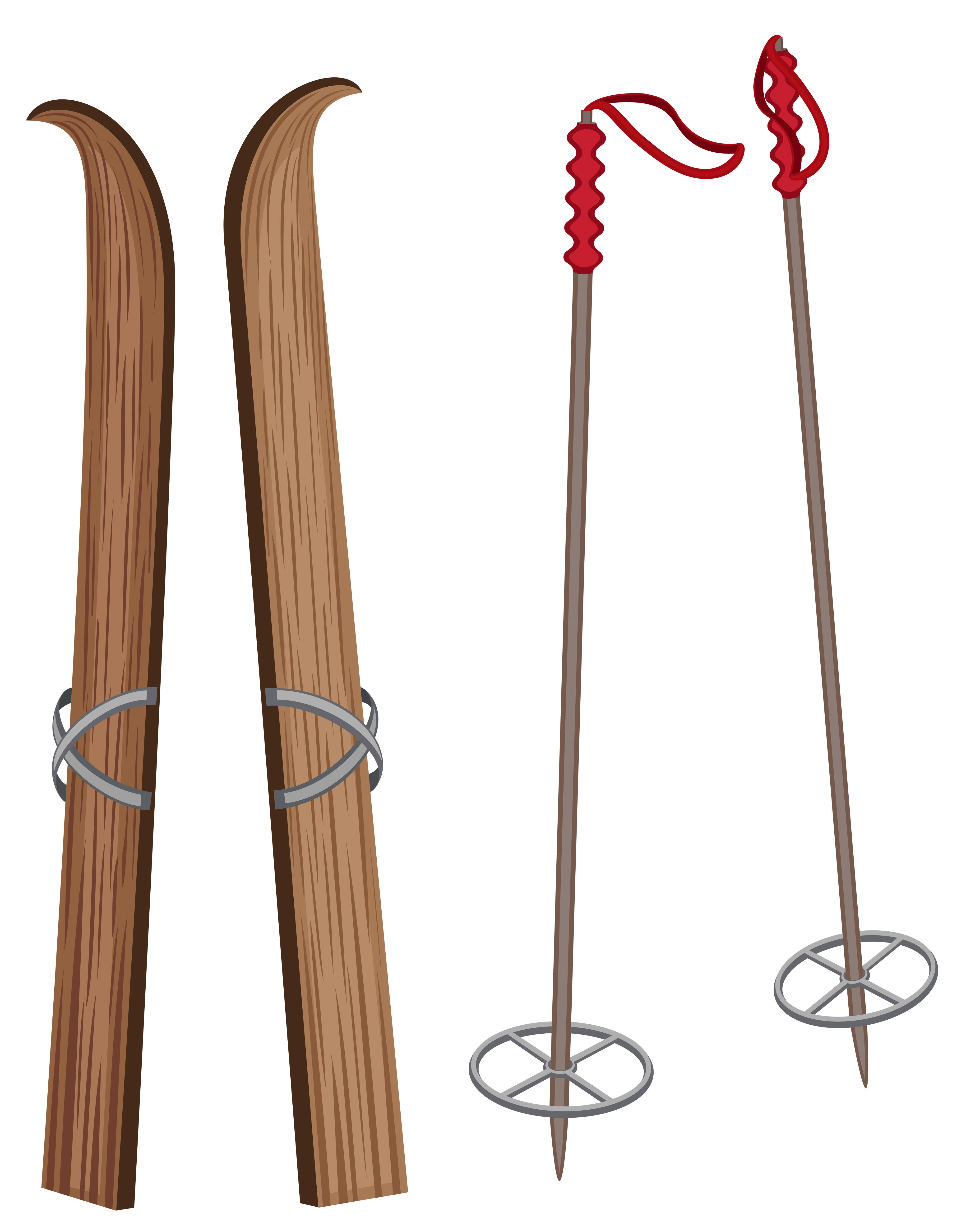 Skiing clipart transparent background. Old wooden ski png