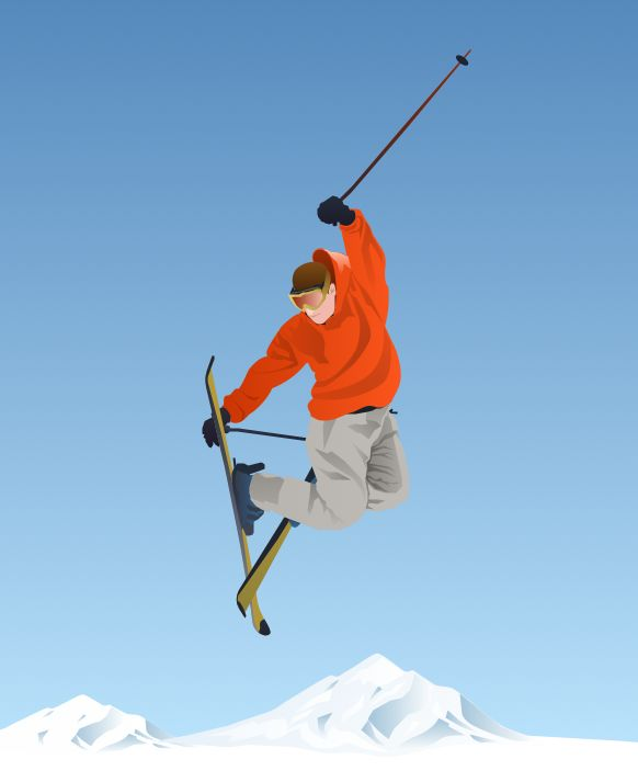 skiing clipart winter olympic sports