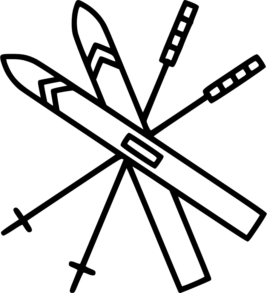 Skiing drawing. Svg png icon free