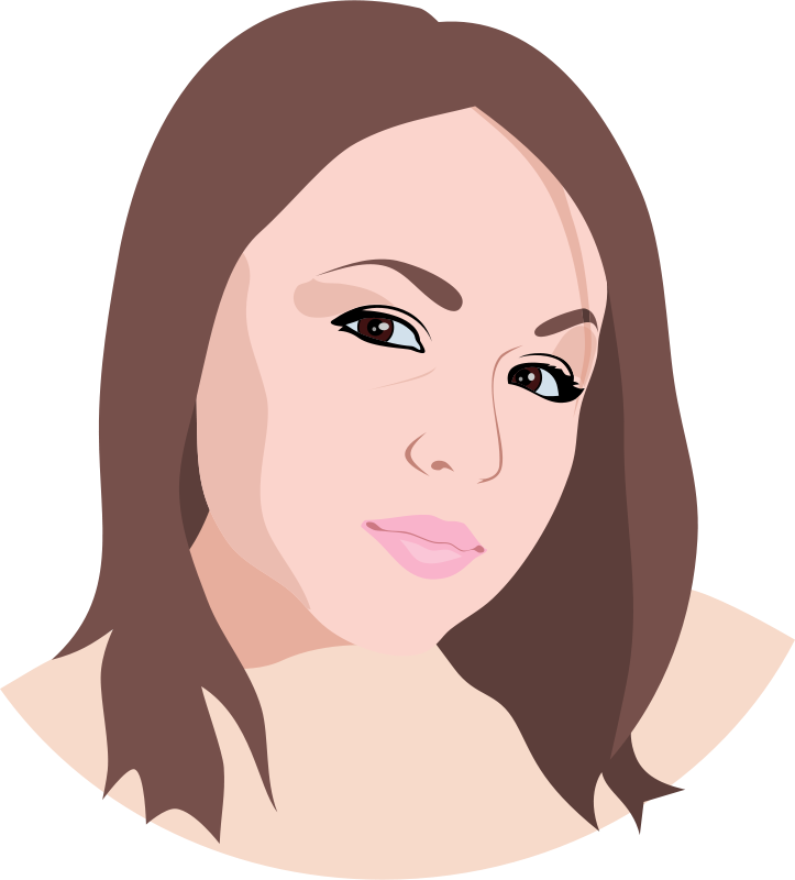 Skin clipart face. Free female cliparts download