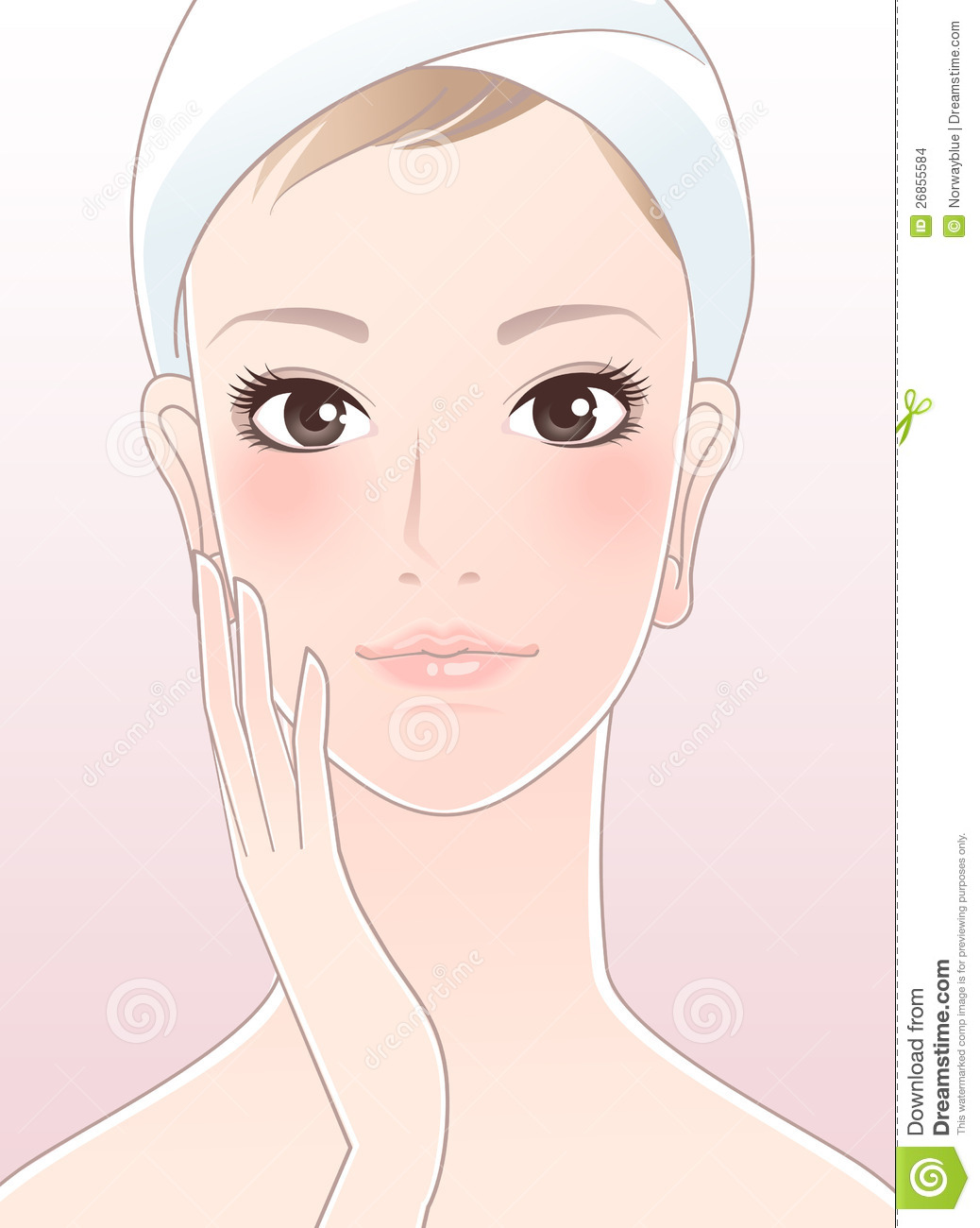 Skin clipart healthy skin. Young perfect panda free