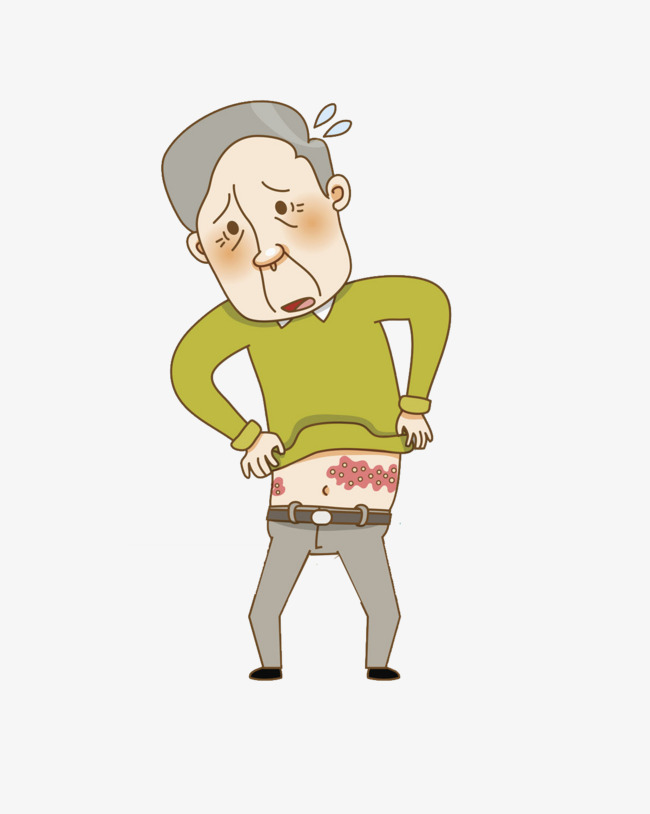 Skin clipart person. A man with diseases