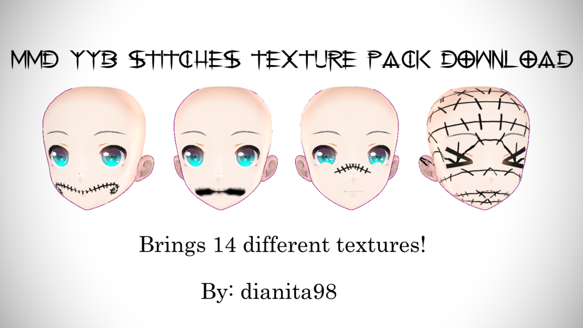 Skin stitches png. Mmd yyb texture pack