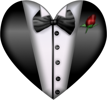 a png b. Silver clip black tie jpg library stock
