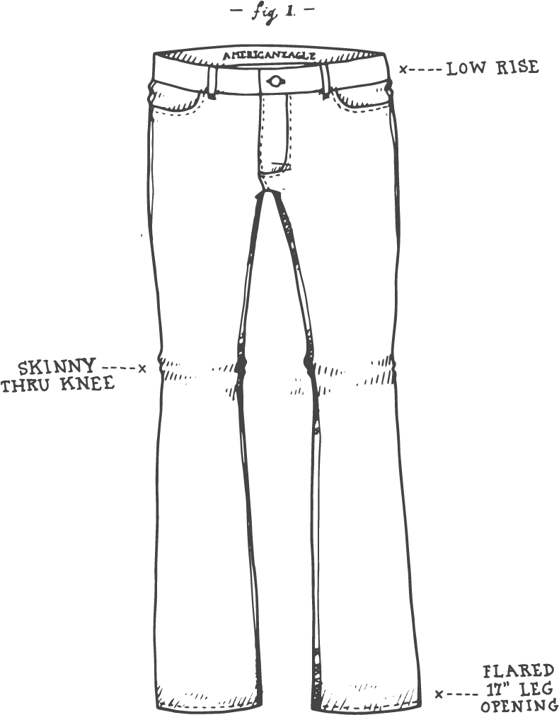 Skinny drawing jean. Download hd jeansketch kick