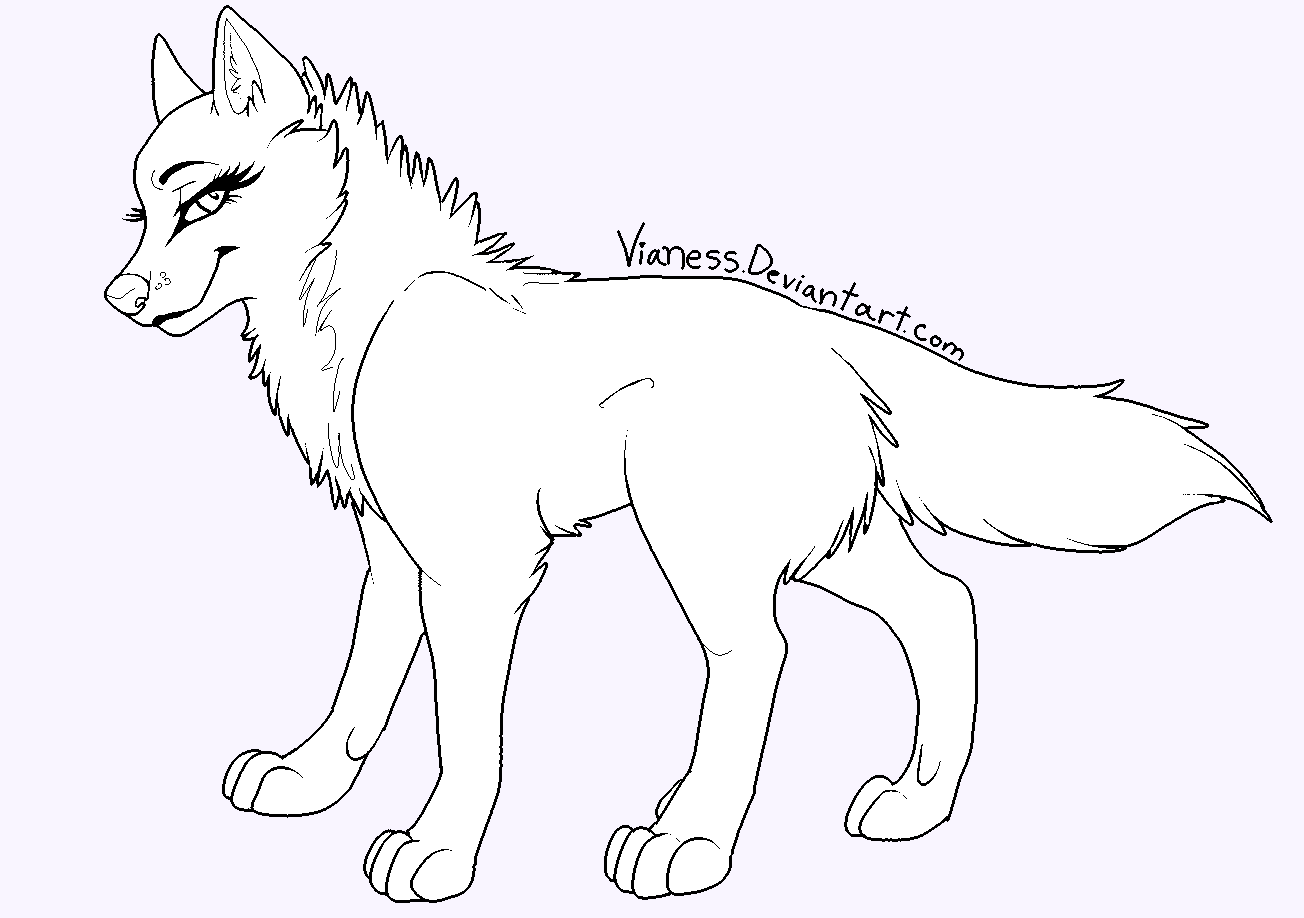 Wolfs drawing full body. Female wolf at getdrawings