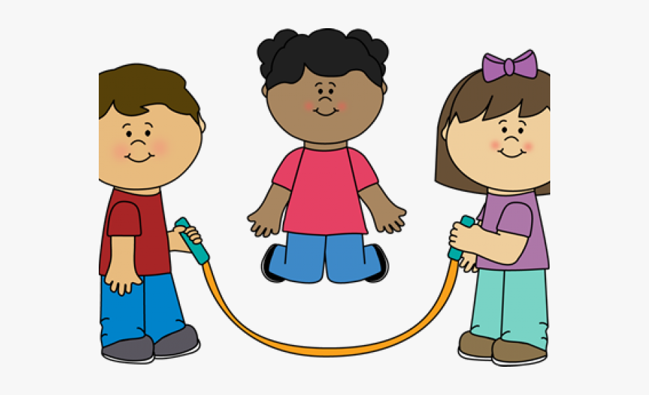 Skipping Rope. Kids jump clipart free