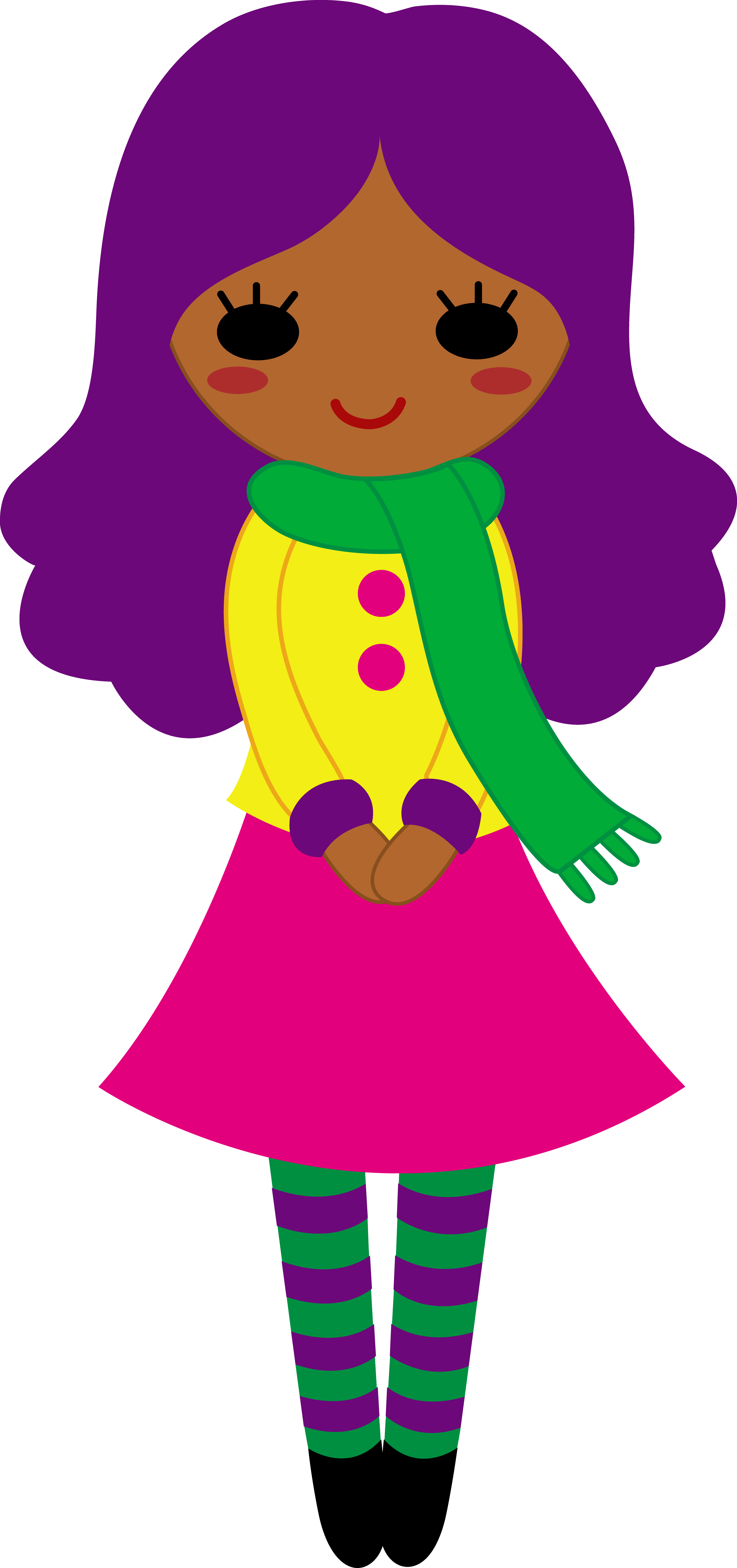 Skirt clipart purple object. Cute girl with hair