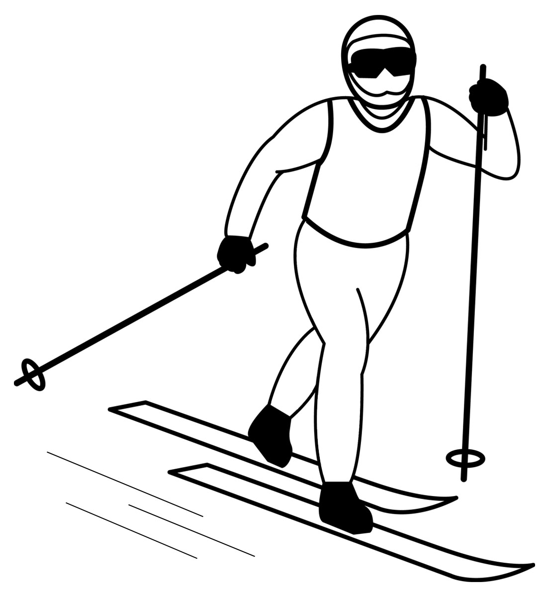 Skis clipart cross country skis. Clip art skiing panda