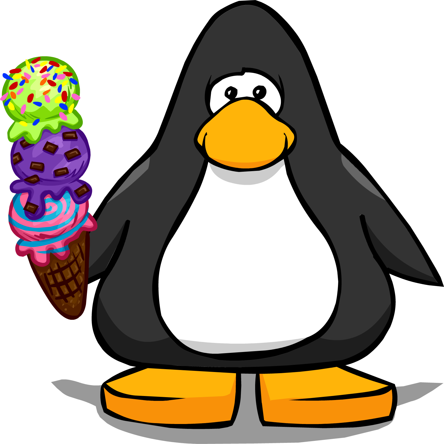 Skis clipart penguin. Every flavor ice cream