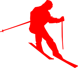 Skis clipart red. Ski clip art at