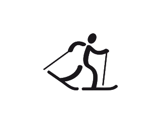 Skis drawing cross country. Clipart for free