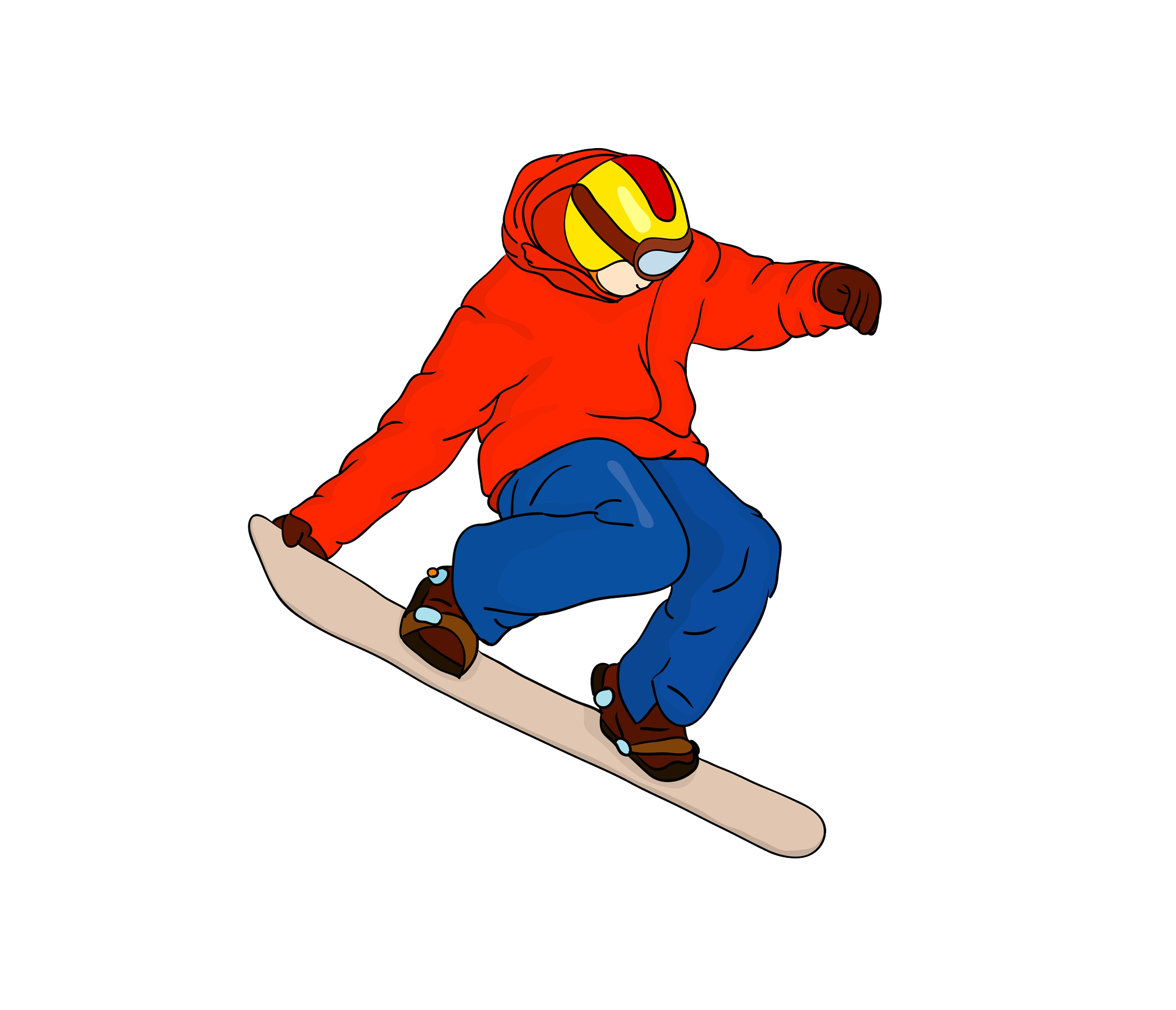 snowboarder drawing animated
