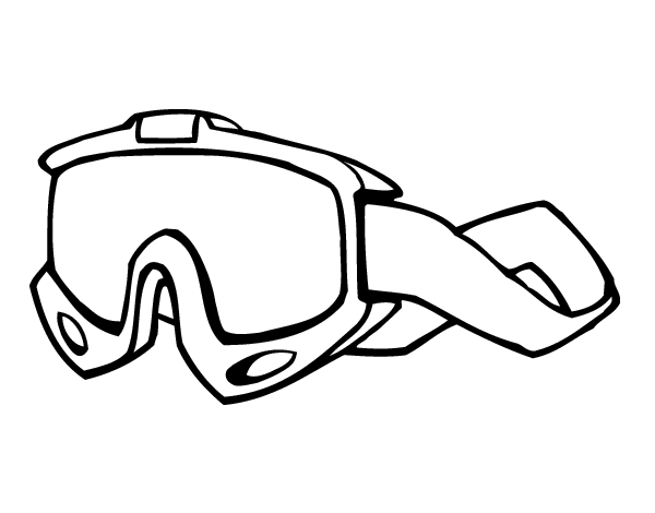 Atv drawing coloring page. Goggles coloringcrew com