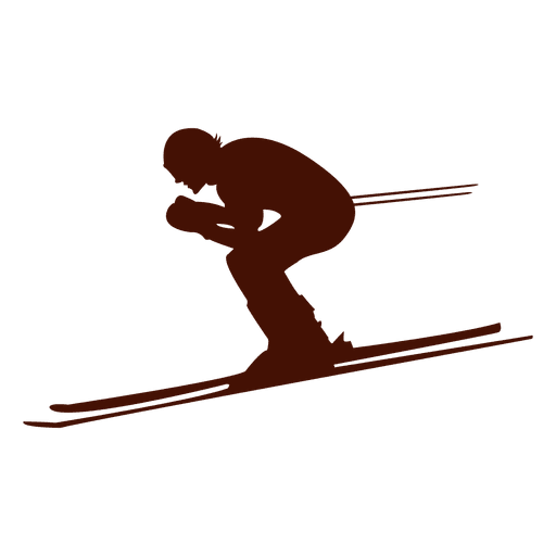Ski jumping sport silhouette. Skier vector snow graphic freeuse stock