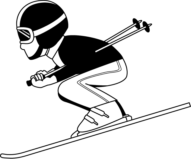 Skis drawing snowboard. Snowboarding clipart guy