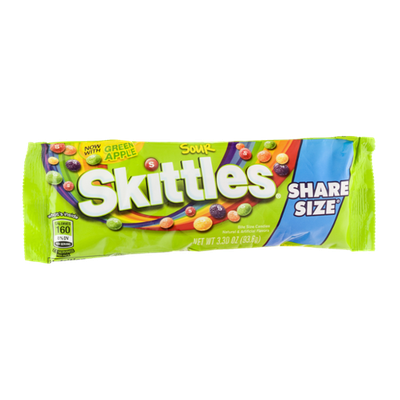 Skittles transparent 41 ounce. Bite size candies share