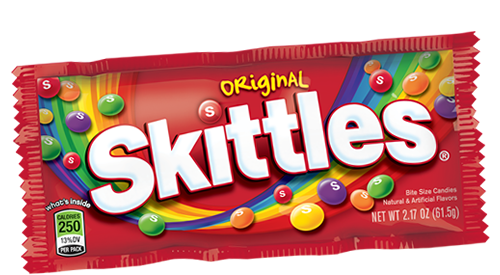Skittles transparent. My missionary package