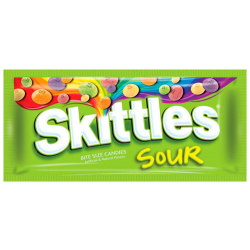 Skittles transparent bag. Orchards the american candy